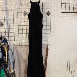 Lulu's Bead Neck Mermaid Gown